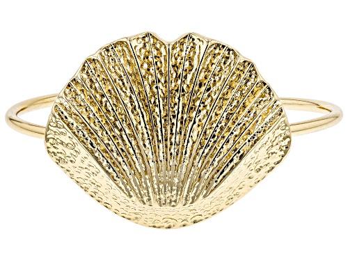 Photo of Paula Deen Jewelry™ Hammered Gold Tone Seashell Cuff Bracelet
