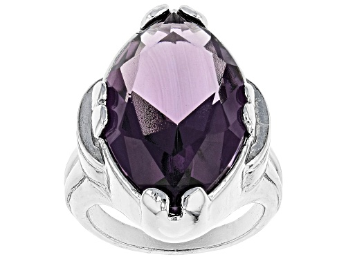 Photo of Paula Deen Jewelry™ 25x15mm Marquise Purple Crystal Silver Tone Solitaire Ring - Size 8