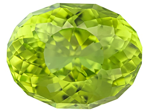 Photo of Chinese peridot min 1.75ct 9x7mm oval SunGlitz cut™