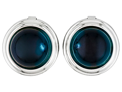 Photo of Pre-Owned  Blue Amber Button Cover 12mm Round Set Of 2