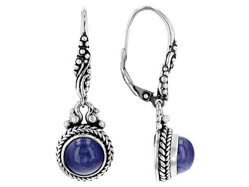 Photo of Pre-Owned Artisan Collection Of Bali™ 8mm Round Cabochon Tanzanite Silver Dangle Earrings