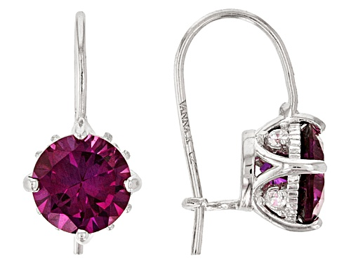 Photo of Pre-Owned Vanna K ™ Bella Luce ® 2.92ctw Rhodolite Garnet & White Diamond Simulants Platineve®Earrin