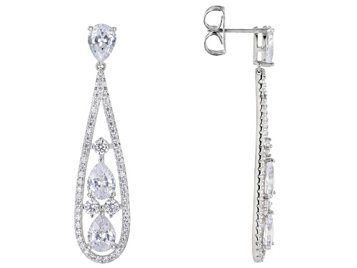 Photo of Pre-Owned Charles Winston For Bella Luce ® 15.26ctw Rhodium Over Sterling Silver Earrings (10.53ctw