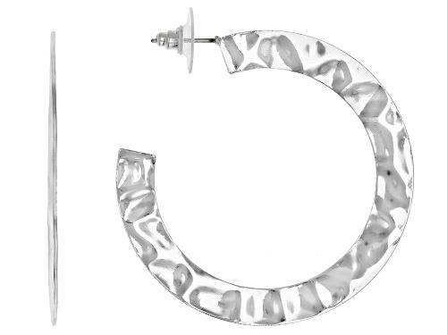 Photo of Pre-Owned Paula Deen Jewelry Hammered Silver Tone Hoop Earrings