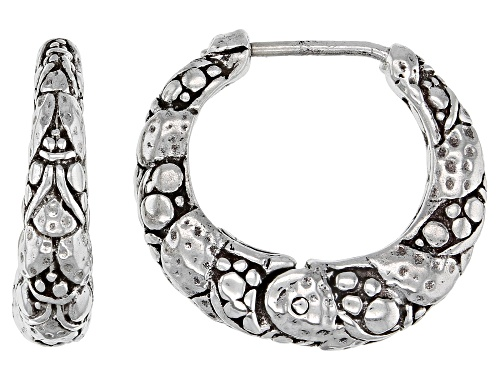 """Photo of Pre-Owned Artisan Collection Of Bali™ Sterling Silver """"God Leading Us"""" Huggie Hoop Earrings"""