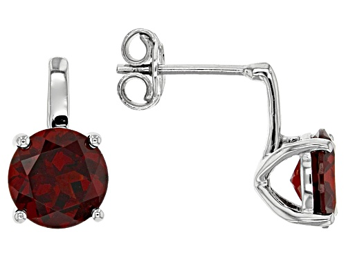 Photo of Pre-Owned 3.81ctw Round Vermelho Garnet™ Sterling Silver Solitaire Earrings