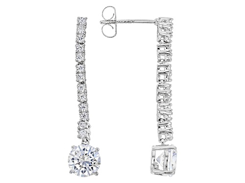 Photo of Pre-Owned Vanna K ™ For Bella Luce ® 3.74ctw White Diamond Simulant Platineve® Earrings (2.25ctw Dew