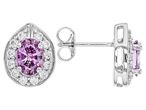 Photo of Pre-Owned Bella Luce ® Rhodium Over Sterling Silver Earrings With Fancy Purple Swarovski ® Zirconia