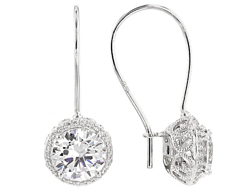 Photo of Pre-Owned Vanna K ™ For Bella Luce ® 6.28ctw Platineve® Earrings (4.34ctw Dew)