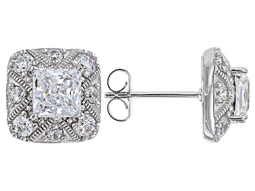 Photo of Pre-Owned Vanna K ™ For Bella Luce ® 4.17ctw Platineve® Earrings (2.70ctw Dew)