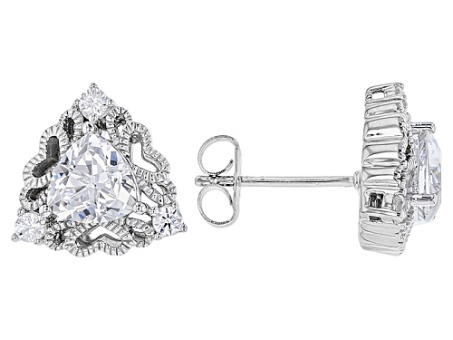 Photo of Pre-Owned Vanna K ™ For Bella Luce ® 2.84ctw Platineve® Earrings (1.70ctw Dew)