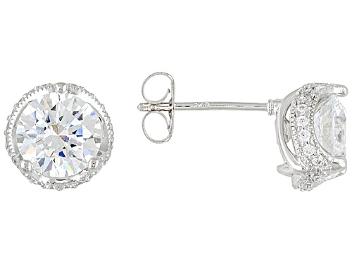 Photo of Pre-Owned Vanna K For Bella Luce ® 4.73ctw Diamond Simulant Platineve® Earrings (2.78ctw Dew)