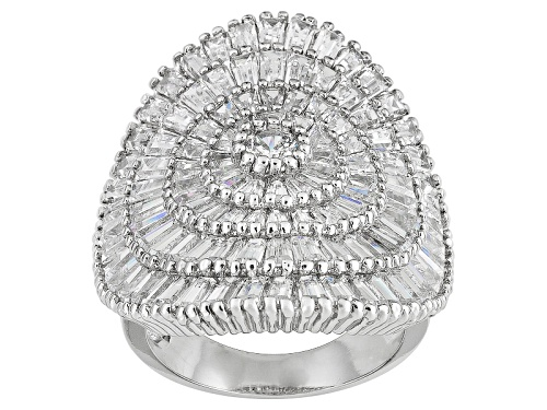 Photo of Pre-Owned Bella Luce ® 9.55ctw Rhodium Over Sterling Silver Ring - Size 8