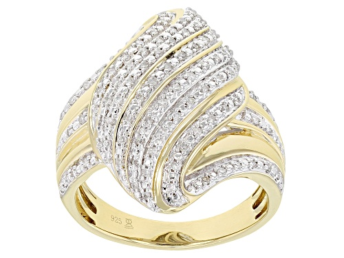 Photo of Pre-Owned Engild™ 0.25ctw Round White Diamond 14k Yellow Gold Over Sterling Silver Ring - Size 5