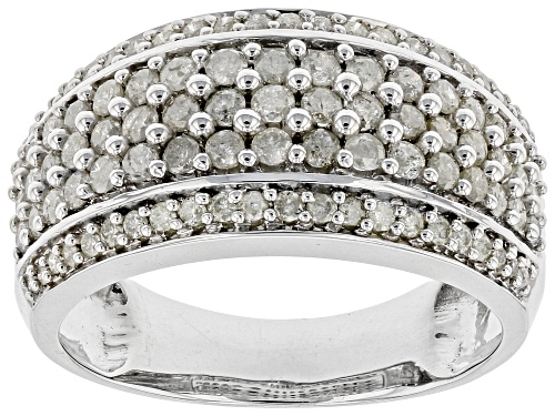 Photo of Pre-Owned 1.05ctw Round White Diamond Rhodium Over Sterling Silver Ring - Size 8