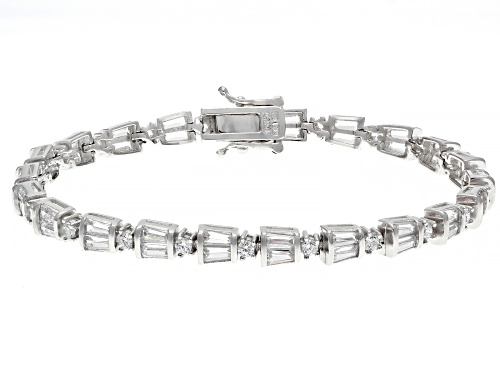Photo of Pre-Owned Bella Luce ® 6.28ctw Rhodium Over Sterling Silver Tennis Bracelet (3.48ctw DEW) - Size 7