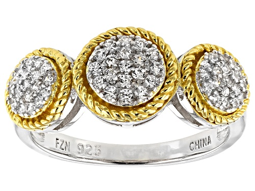 Photo of Pre-Owned Bella Luce ® 0.55ctw Rhodium And 14K Yellow Gold Over Sterling Silver Ring (0.31ctw DEW) - Size 11