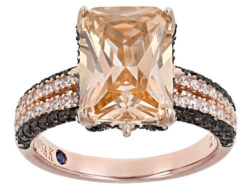 Photo of Pre-Owned Vanna K ™ For Bella Luce ® 12.12ctw Champagne, White & Mocha Diamond Simulants Eterno ™ Ro - Size 7
