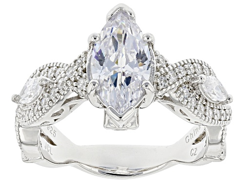 Photo of Pre-Owned Bella Luce ® 5.20ctw Rhodium Over Sterling Silver Ring - Size 7