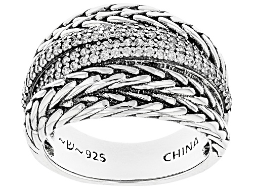 Photo of Pre-Owned Bella Luce ® 0.94ctw Rhodium Over Sterling Silver Ring (0.52ctw DEW) - Size 6