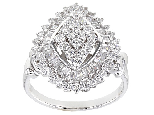 Photo of Pre-Owned Bella Luce® 2.88ctw Rhodium Over Sterling Silver Ring - Size 12