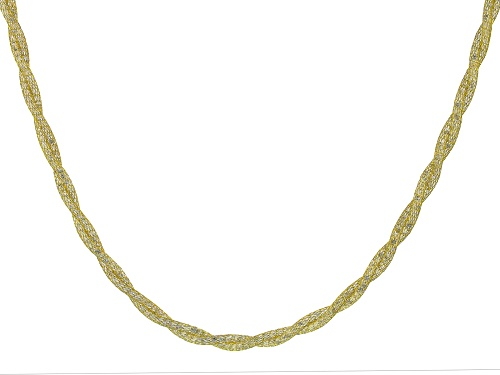 Photo of Pre-Owned 10K Yellow Gold Bella Luce® Cubic Zirconia Crochet D'Tuscano Double Torchon 18 Inch Neckla - Size 18