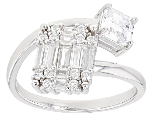 Photo of Pre-Owned Bella Luce ® 3.40ctw Rhodium Over Sterling Silver Ring - Size 9