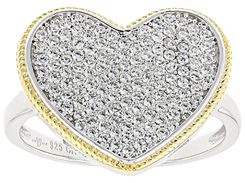 Photo of Pre-Owned Bella Luce ® 0.91ctw Rhodium And 14K Yellow Gold Over Sterling Silver Heart Ring (0.65ctw - Size 7