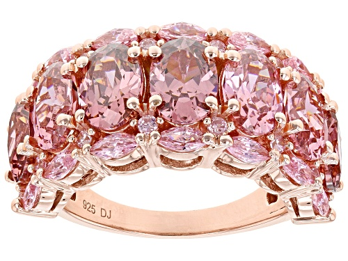 Photo of Pre-Owned Bella Luce ® 11.01ctw Esotica ™ Blush Zircon and Pink Diamond Simulants Eterno ™ Rose Ring - Size 8