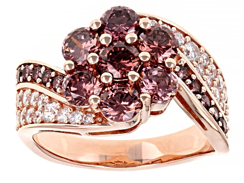 Photo of Pre-Owned Bella Luce ® Esotica™ 4.97ctw Blush Zircon And White Diamond Simulants Eterno™ Rose Ring - Size 10