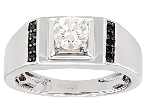 Photo of Pre-Owned 1.10CT FABULITE STRONTIUM TITANATE  AND BLACK SPINEL RHODIUM OVER SILVER MENS RING - Size 10