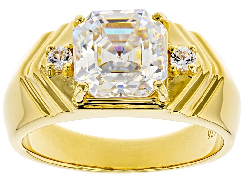 Photo of Pre-Owned 4.45CT FABULITE STRONTIUM TITANATE AND .13CTW WHITE ZIRCON 18K YELLOW GOLD OVER SILVER GEN - Size 12
