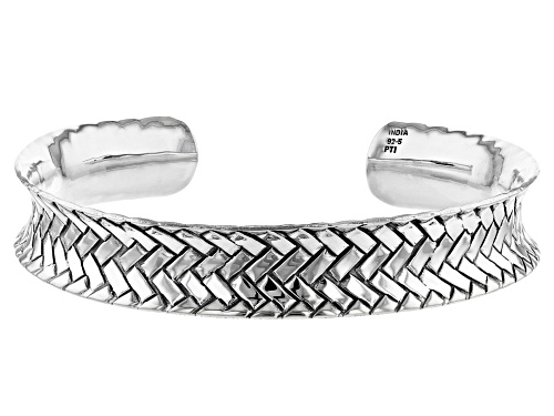"""Photo of Pre-Owned Sterling Silver Weave Design Cuff Bracelet 7"""" - Size 7"""