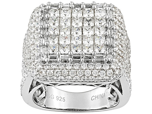 Photo of Pre-Owned Bella Luce ® 9.86ctw Rhodium Over Sterling Silver Ring - Size 6