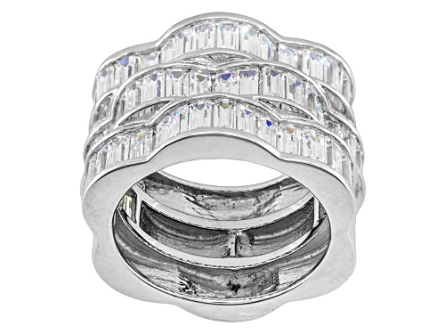 Photo of Pre-Owned Jose Hess ™ For Bella Luce ® 9.00ctw Rhodium Plated Sterling Silver Ring - Size 6