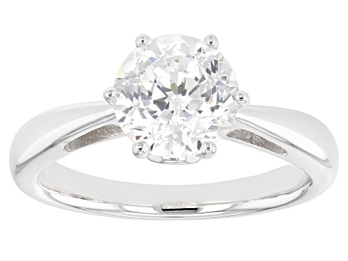 Photo of Pre-Owned Bella Luce ® 2.26ctw Round Cut Platinum Over Sterling Silver Ring - Size 12