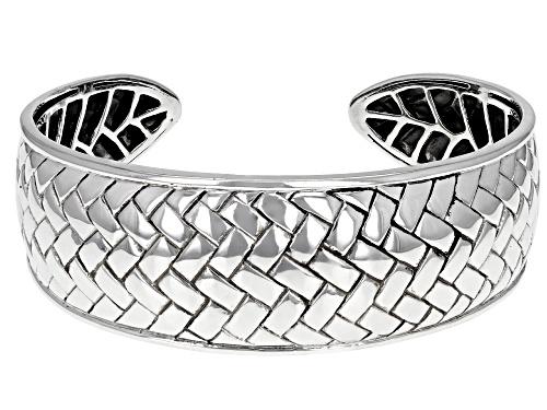 Photo of Pre-Owned Southwest Style By JTV™ Sterling Silver Basket Weave Cuff Bracelet - Size 7.5