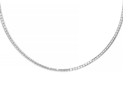 """Pre-Owned Stainless Steel Omega 18"""" Necklace - Size 18"""