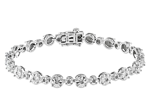 Photo of Pre-Owned 0.50ctw Round White Diamond Rhodium Over Sterling Silver Tennis Bracelet - Size 7.25