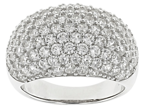 Photo of Pre-Owned 4.00ctw Round White Zircon Rhodium Over Sterling Silver Cluster Dome Ring - Size 6