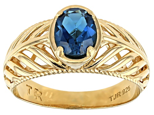 Photo of Pre-Owned Artisan Collection Of Turkey™ 0.60ct London Blue Topaz 18K Gold Over Sterling Silver Ring - Size 7