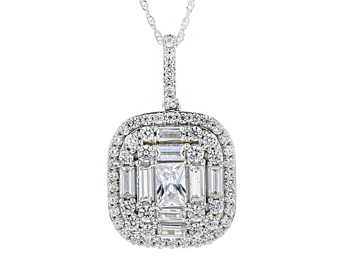 Photo of Pre-Owned Charles Winston For Bella Luce ® 5.20ctw Rhodium Over Sterling Silver Pendant With Chain