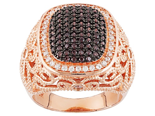 Photo of Pre-Owned Bella Luce ® 1.16ctw Mocha And White Diamond Simulants Eterno ™ Rose Ring (.66ctw Dew) - Size 7