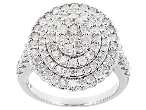 Photo of Pre-Owned 1.62ctw Round White Diamond 10k White Gold Ring - Size 4.5