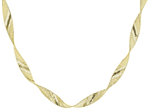 Photo of Pre-Owned 18k Yellow Gold Over Sterling Silver Ribbon Omega Necklace 20 inch - Size 20