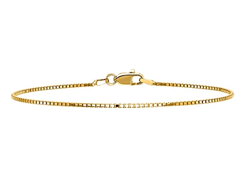 Photo of Pre-Owned 14k Yellow Gold 1.0mm Box Chain. Available in sizes 7 or 8 inches - Size 8