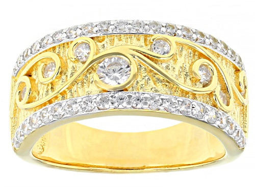 Photo of Pre-Owned Bella Luce ® 1.26ctw Rhodium Over Silver Eterno™ Yellow Band Ring (0.68ctw DEW) - Size 9