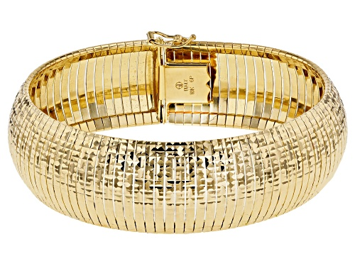 Photo of Pre-Owned Moda Al Massimo™ 18K Yellow Gold Over Bronze Omega Link 7.5 Inch Bracelet - Size 7.5