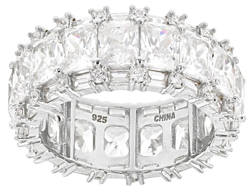 Pre-Owned Bella Luce ® 16.25ctw White Diamond Simulant Rhodium Over Silver Eternity Band Ring (7.14c - Size 5