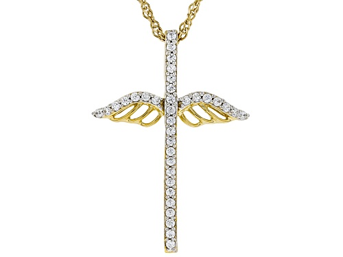 Photo of Pre-Owned Bella Luce ® .46ctw Round Eterno ™ Yellow Cross Pendant With Chain